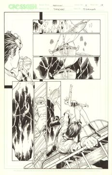 Original Art Page By Steve McNiven And T. Simmons - CrossGen Comics - Meridian #11 - Page 17 - (2001)