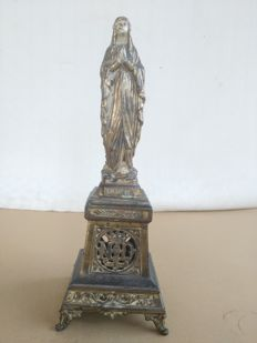 Antique altar with Virgin Notre Dame de Lourdes