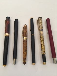 Lot comprised of 6 fountain pens for collection