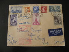 France 1939 – Aéropostale, 1st aerial postal service between France and the U.S.A.