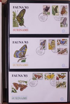 Netherlands Antilles 1958/1988 - batch of FDCs in ten, partly old, albums.