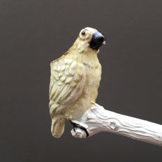 """Figural clay pipe by Fiolet, """"Parrot"""", model nr. unknown- France, ca. 1890"""