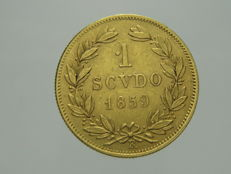 Papal State – 1 Scudo 1859, Pious IX – gold