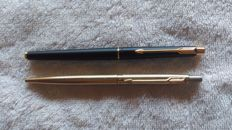 Parker Classic NI pens, gold plated and Classic IU Roller Ball - vintage