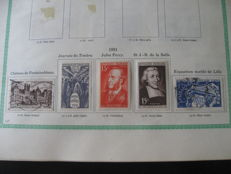 France 1951-1959 - Collection of stamps.