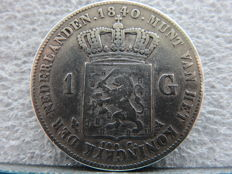 The Netherlands – 1 guilder 1840, Willem I – silver