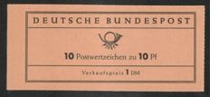 Federal Republic of Germany 1960 – Heuss stamp booklet, verified by Schmidl, Michel MH 6a