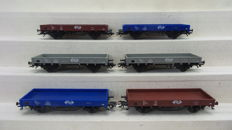 Märklin H0 -44333/44333.1/44333.2/44333.3 - Set with six low side cars of the NS