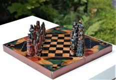 Old chess game from Peru
