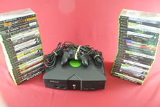 Microsoft xbox console with 50 games