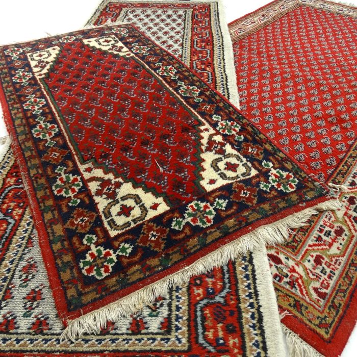 "Trio of Mir carpets - ""Three oriental carpets in beautiful condition"" - With certificate."