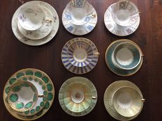 Bavaria quality porcelain cups and saucers, breakfast sets