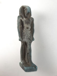 Thoth amulet made of Faience - 37 mm