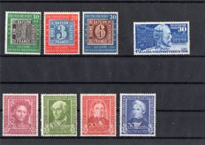Bundespost 1949/1952 - selection on stockcards