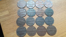 Utrecht - Farthing 1739/1790 - 16 pieces - copper
