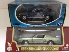 Solido / Yatming - Scale 1/18 - Ford Mustang Fastback and 1968 Shelby GT 500 KR