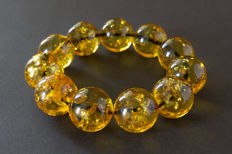 Baltic Amber bracelet in transparent cognac colour, 68.09 gr., no reserve
