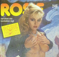Pornography; Lot with 12 Rosie Magazines - 1988/1990