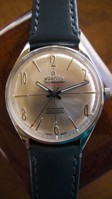 Atlantic Worldmaster - Swiss made - men's watch - 1970s - Big line - FHF969 - 17 Jewels - state collector