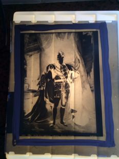 Glass negatives 11x - Queen King Giogio - Rome Italy - Vatican - Art - Painting - Church