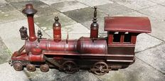 A beautiful old-fashioned wooden train (70 cm)