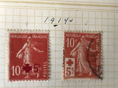 France 1914/1922 - Red Cross, Charity stamps and Orphans of war