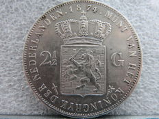 The Netherlands - 2½ guilder 1874 sword Willem III - silver