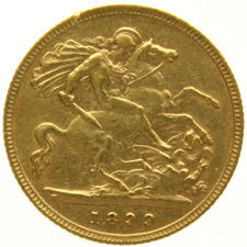 England – ½ sovereign 1899 – Victoria – gold