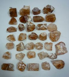 Champagne Color Topaz Crystals Lot Rough - 245 gm (34)