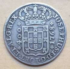 Portugal – Cruzado Novo 480 Réis – 1768 – José I . Above Average