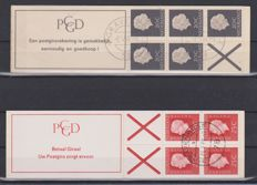 The Netherlands 1967/1969 – Two stamp booklets – NVPH 6b and 9b