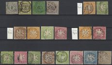 Württemberg Altdeutschland – collection from no. 1