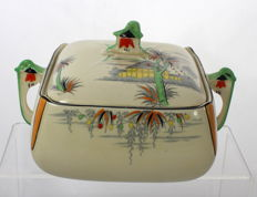 Burleigh Ware - Vegetable Tureen with Exotic Landscape