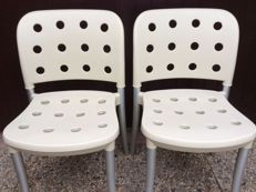 Antonio Citterio for Halifax Milano – set of 2 stack chairs model ' MINNI '