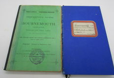 A Descriptive guide and a large folding map of Bournemouth in Dorset - 2 volumes - 1887