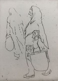 Willy Belinfante (1922 - 2014) - seven (travel) sketches