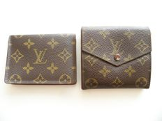 Lot of 2: Louis Vuitton bi-sided tri-fold wallet and Louis Vuitton ID-holder -*No Reserve Price!*