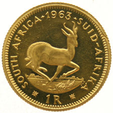 South Africa – 1 rand 1963 – gold