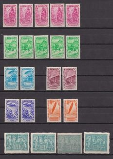 Spain 1936 – Charity and orphans Stamps and series – Edif 19, 21/26, 29/33, 36/51.