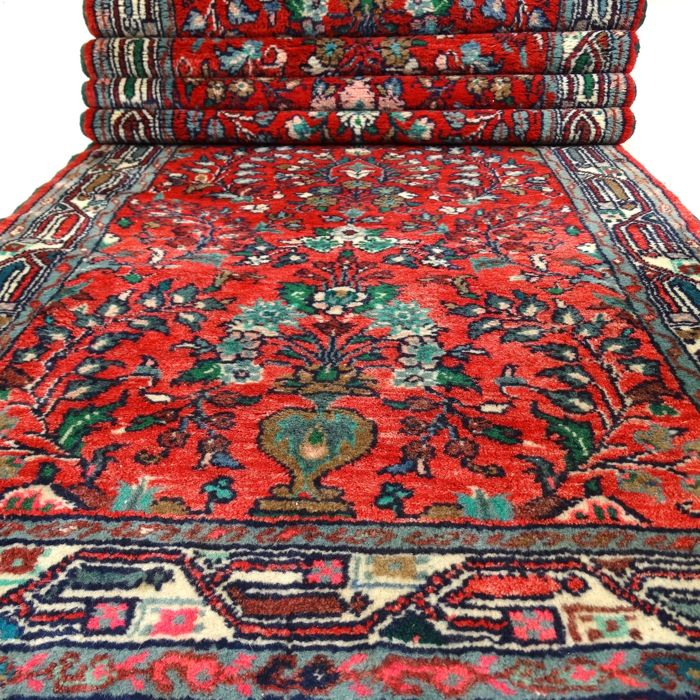 Sarough - 289 x 85 cm - Persian runner in wonderful condition - with certificate