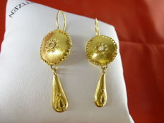 Etruscan style earrings from the 1970s
