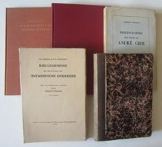 Book history; Lot with 5 bibliographies - 1867 / 1962