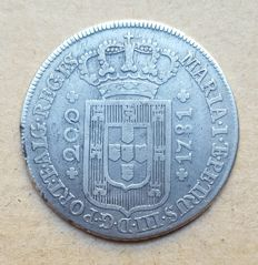 Portugal – 12 Vinténs 240 Réis – 1781 – D. Maria I & D. Pedro III – Low Crown