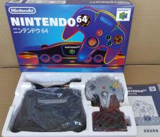 Japanese Nintendo 64 console complete in box in very good condition with 2 games (Mario and Pokémon)