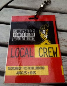 Concert Backstage Rolling Stones - Vodoo Lounge -European Tour 95 -Local Crew