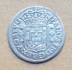 Portugal – 3 Vinténs 60 Réis – Porto – Pedro II . Above Average