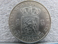 The Netherlands – 1 guilder 1865, Willem III – silver