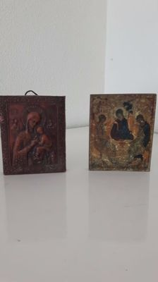 Two Russian and Byzantine Icons
