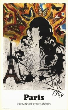 Salvador Dali - Paris (SNCF) - 1970