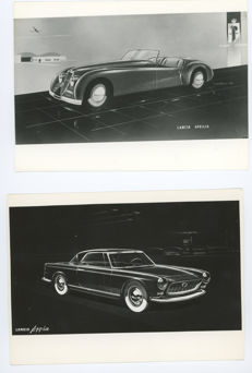 2 x Lancia Aprilia and Appia Design  Pininfarina Original photographs.
